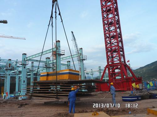 万州项目mk2500塔式起重机安装试吊